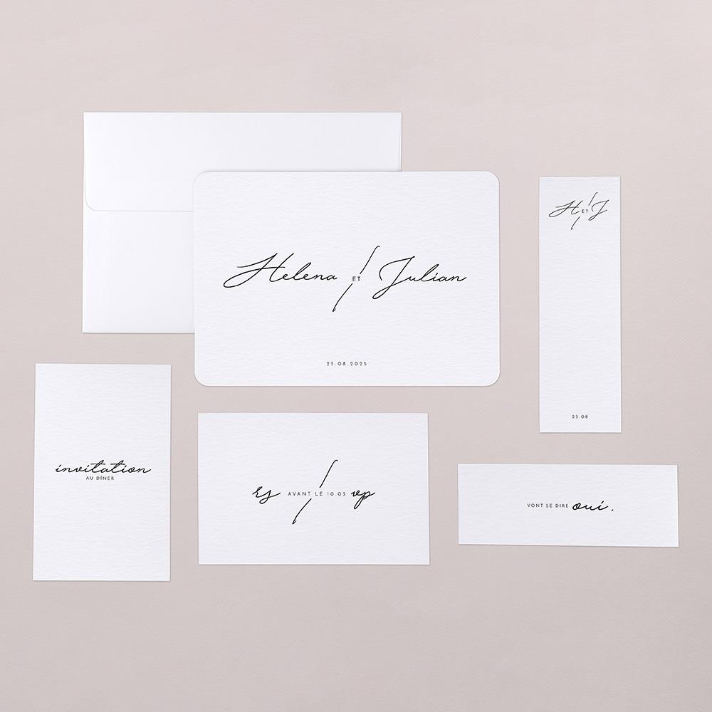 papeterie mariage minimaliste