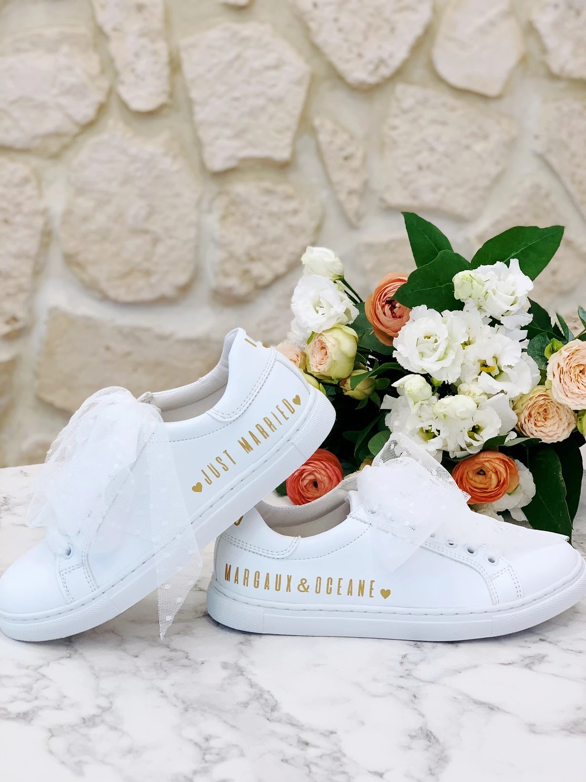 sneakers blanche mariage
