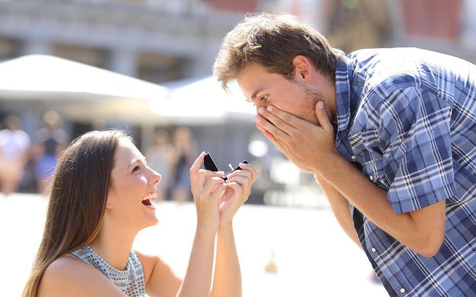 demande en mariage d'une femme à son conjoint