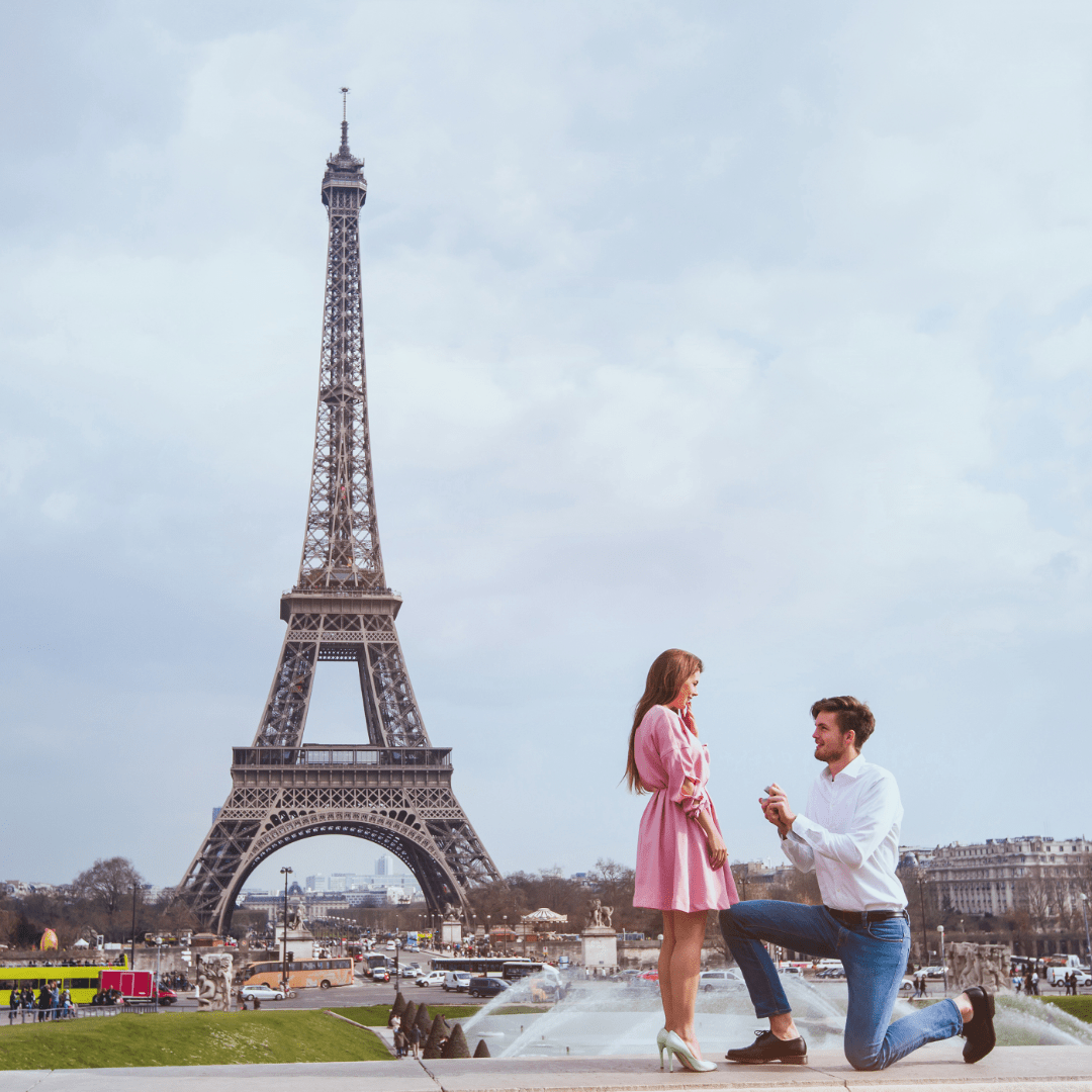 demande en mariage parisienne