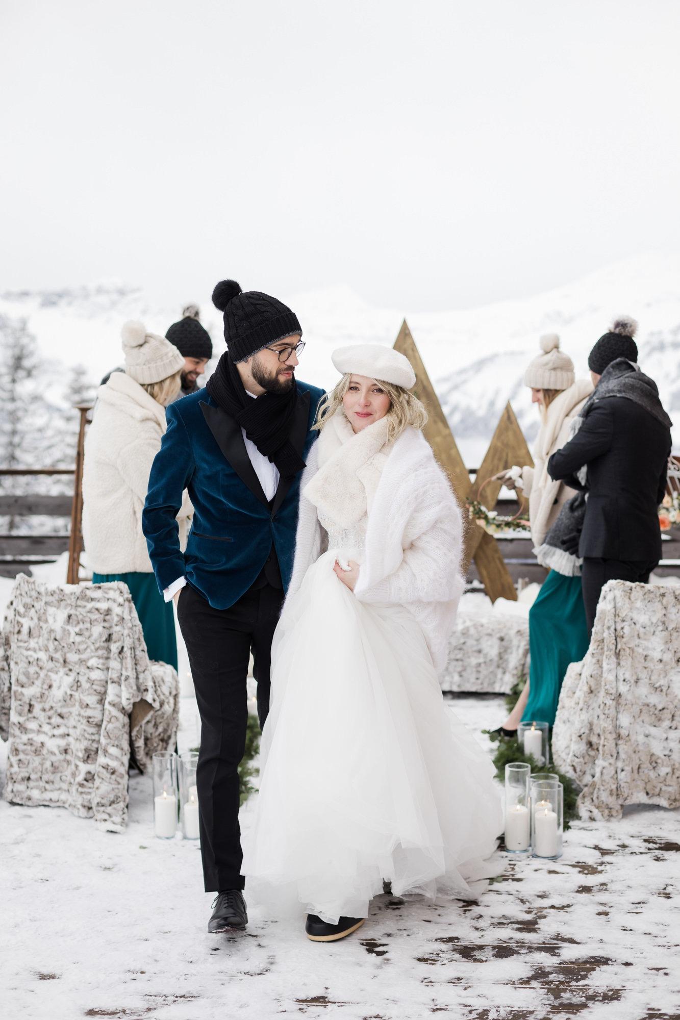wedding planner lyon mariage hiver - les moments m