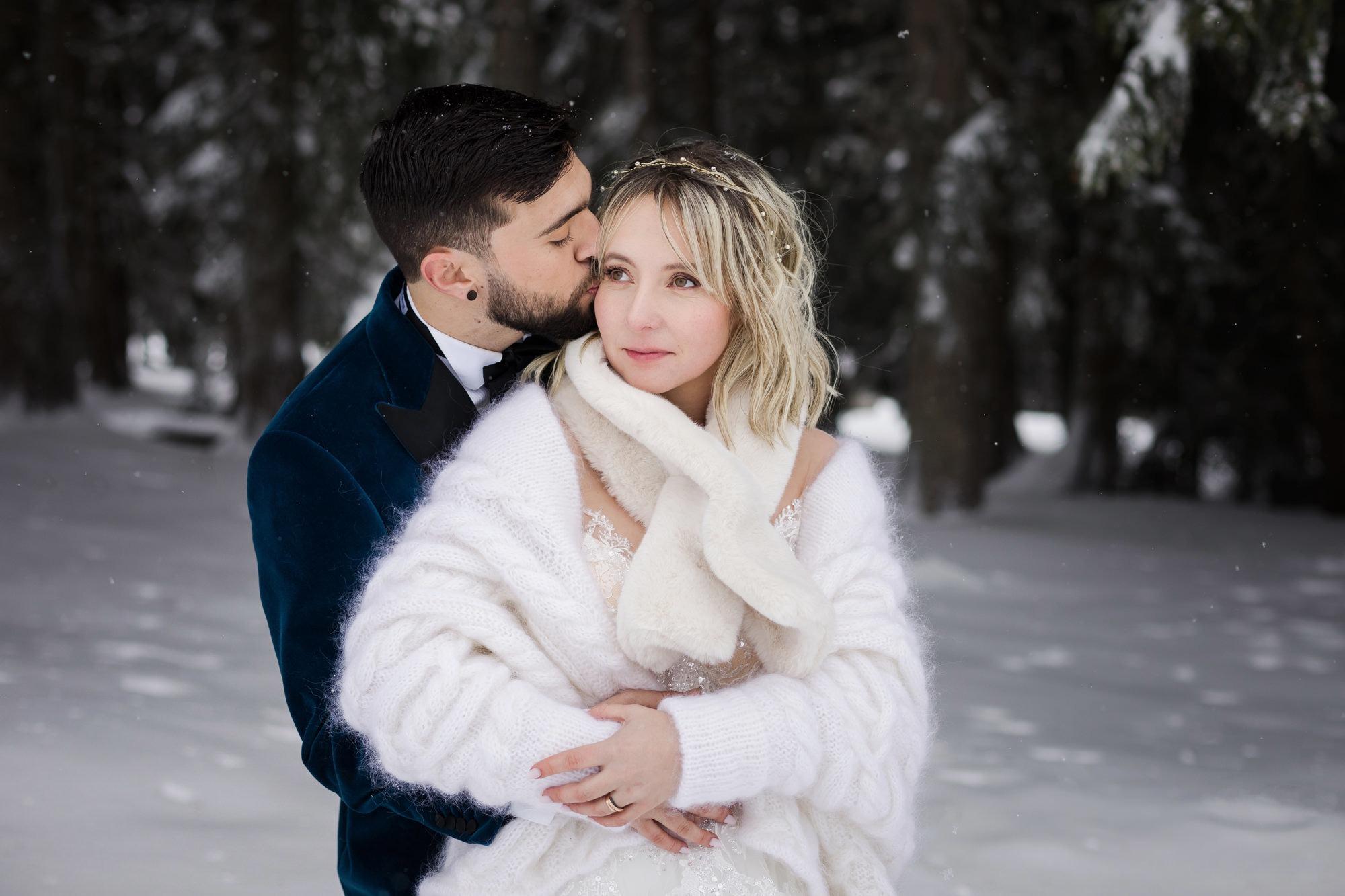 Mariage d'hiver : fugue amoureuse à la neige - les moments m - wedding planner lyon