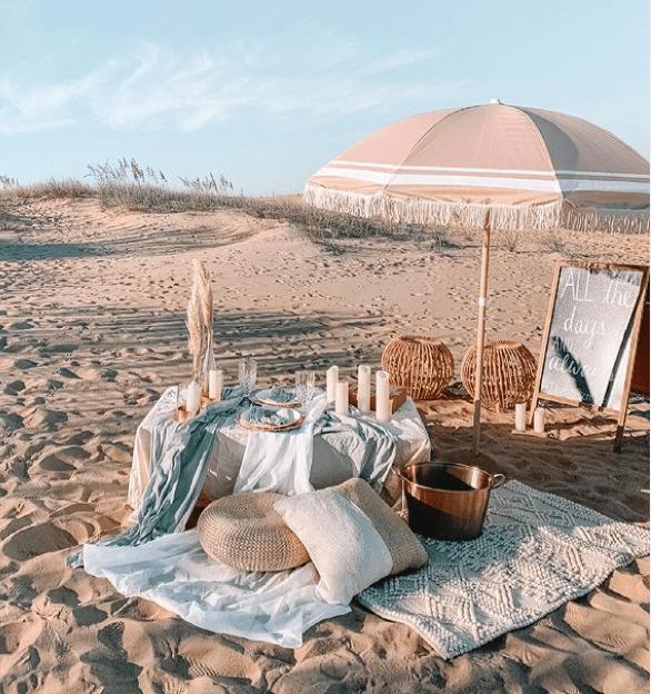 Comment organiser un pique-nique bohème sur la plage ? wedding planner lyon – les moments m